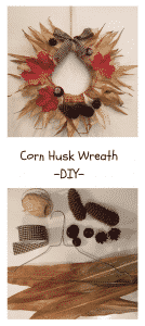 Do it yourself Corn Husk Wreath with greetings from Mamunche